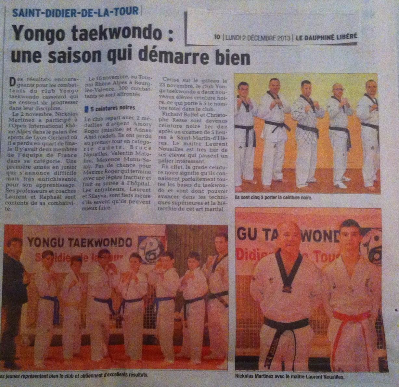 Le Dauphiné Libéré du lundi 02 décembre 2013