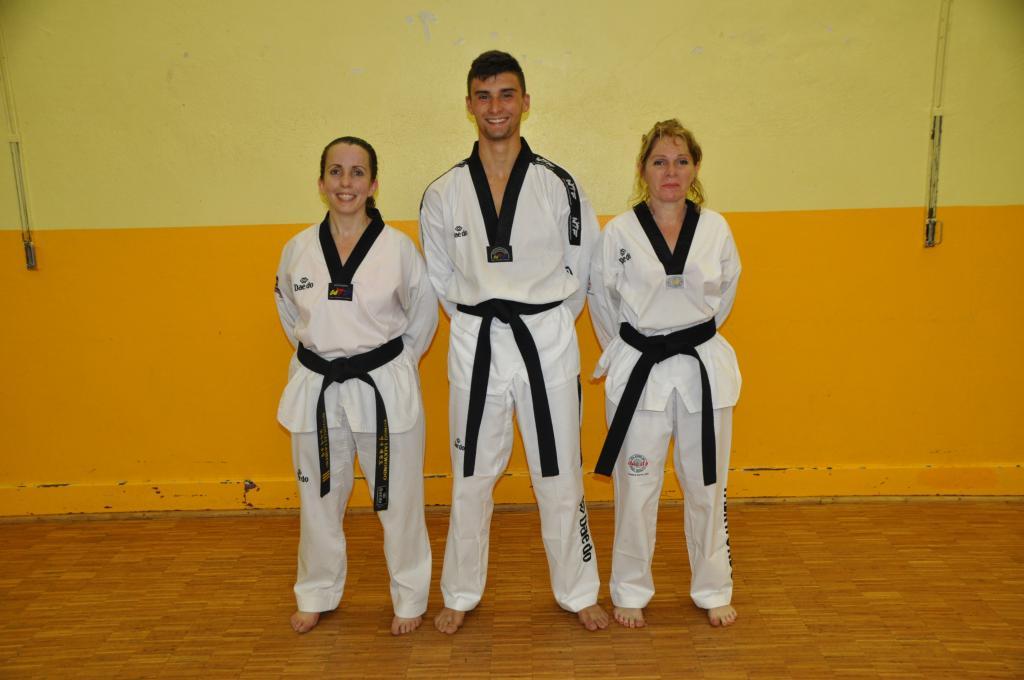 Trois nouvelles ceintures noires