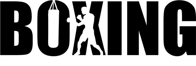 Boxing with boxer silhouette