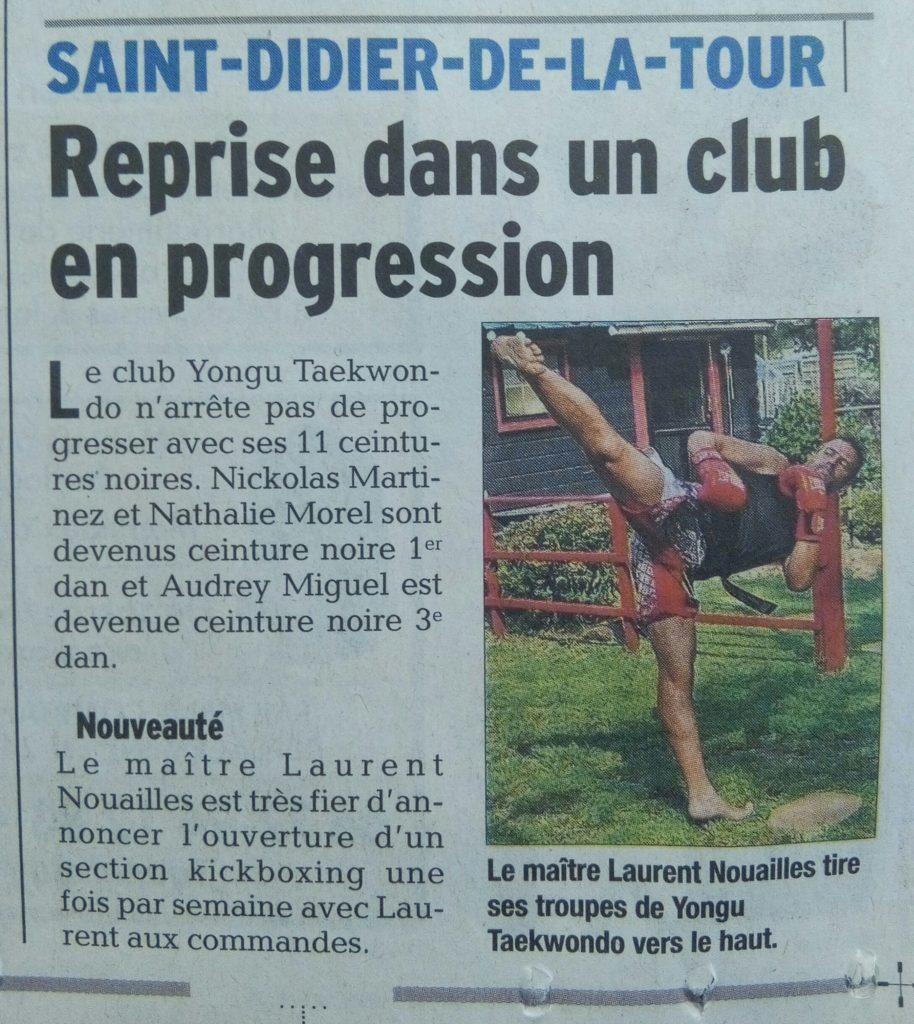Le Dauphiné - Reprise dans un club en progression